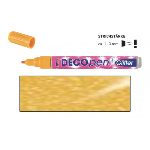 Fix dekorační třpytivý DECOpen 1 - 3 mm zlatý