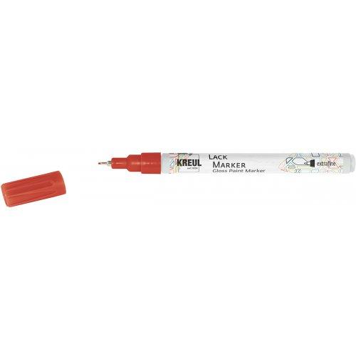 Lakový popisovač KREUL extra jemný 0,8 mm červený