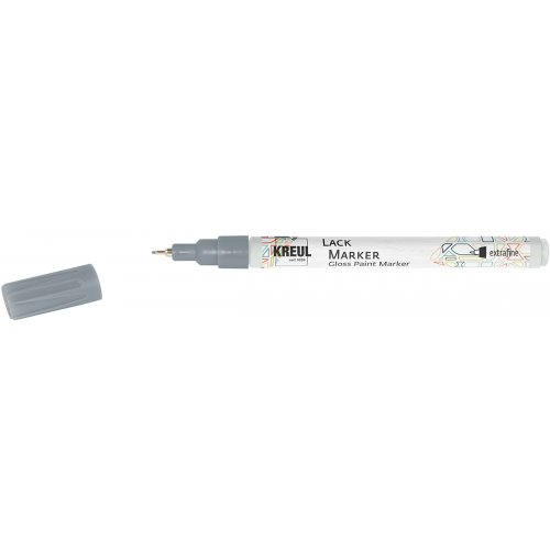 Lakový popisovač KREUL extra jemný 0,8 mm stříbrný