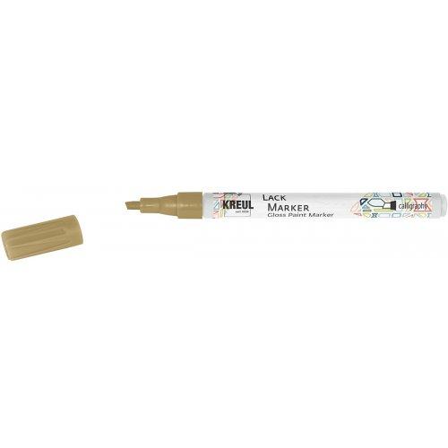 Lakový popisovač KREUL kaligrafický 1 - 3 mm zlatý
