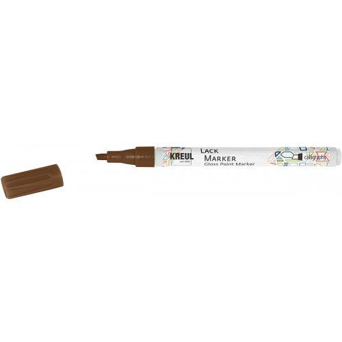 Lakový popisovač KREUL kaligrafický 1 - 3 mm měděný