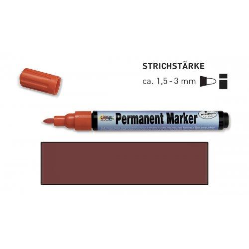 Permanentní popisovač KREUL medium 1,5 - 3 mm tmavě hnědý