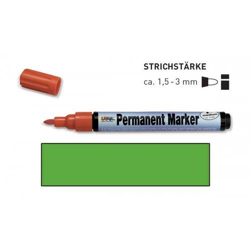 Permanentní popisovač KREUL medium 1,5 - 3 mm světle zelený