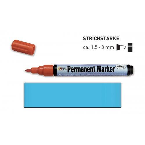 Permanentní popisovač KREUL medium 1,5 - 3 mm světle modrý