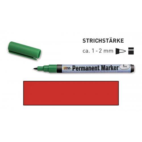Permanentní popisovač KREUL jemný 1 - 2 mm červený