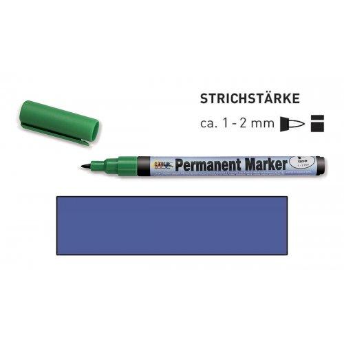 Permanentní popisovač KREUL jemný 1 - 2 mm modrý