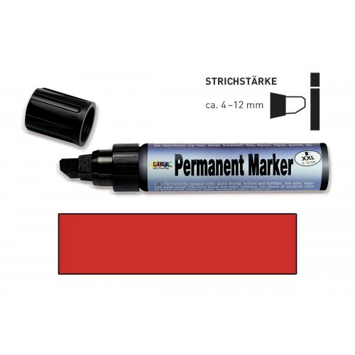 Permanentní popisovač KREUL XXL 4 - 12 mm červený