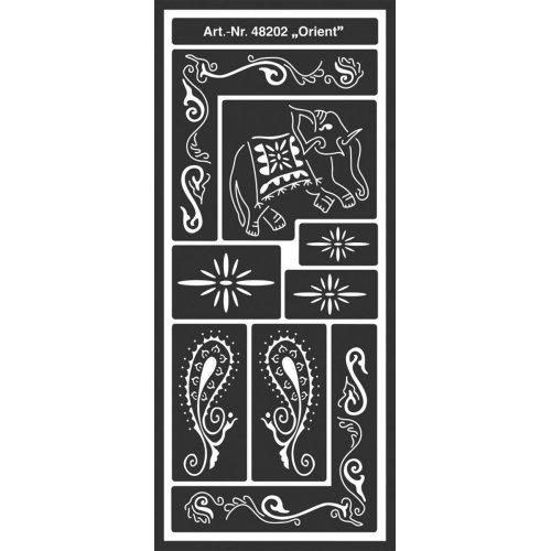 Šablona samolepicí flexibilní, Orient, 12,5 x 28,5 cm