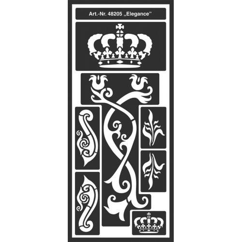 Šablona samolepicí flexibilní, Elegance 12,5 x 28,5 cm