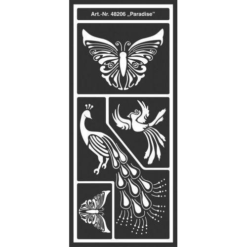 Šablona samolepicí flexibilní, Ráj, 12,5 x 28,5 cm