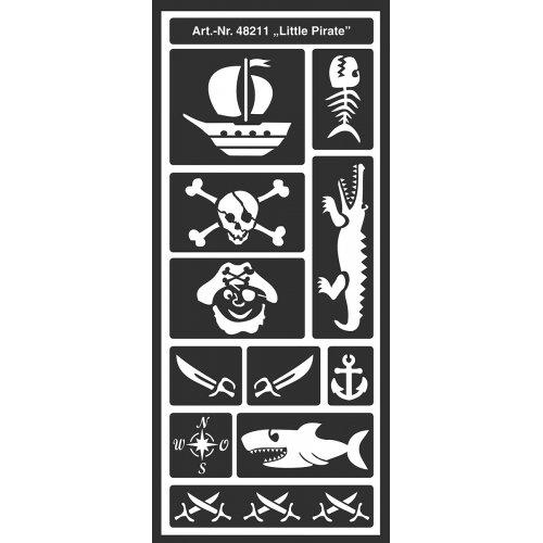 Šablona samolepicí flexibilní, malý pirát, 12,5 x 28,5 cm