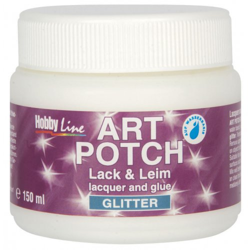 ART POTCH Lak & Lepidlo zářivý stříbrný 150 ml