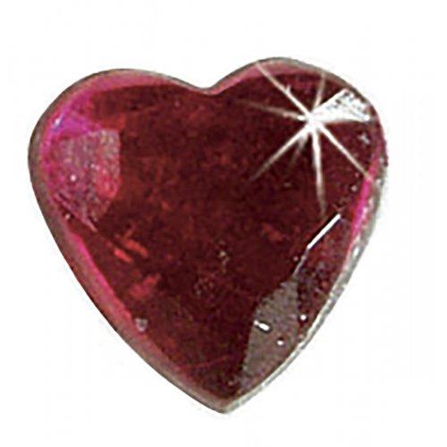 Štrasové kamínky, Srdce barevné, 150 ks