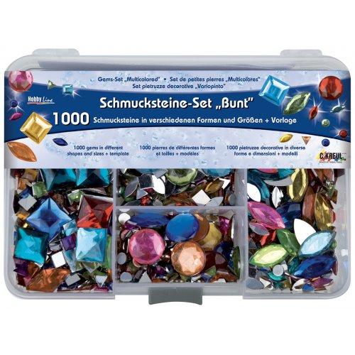 Sada štrasové kamínky barevné 1000 ks