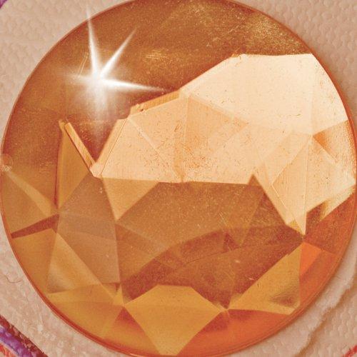 Štrasové kamínky XXL kruh barevný - průměr 30 mm 6 ks