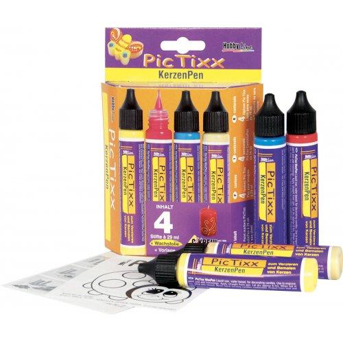 SadaPicTixx Voskové pero pro malování svíček 4 ks
