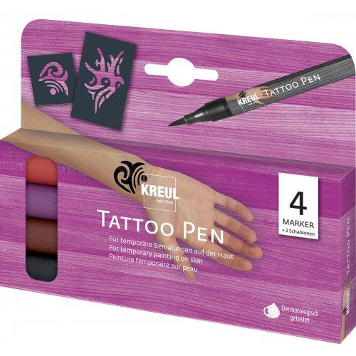 Sada Tetovací fix KREUL Tattoo Pen 4 ks KMENY