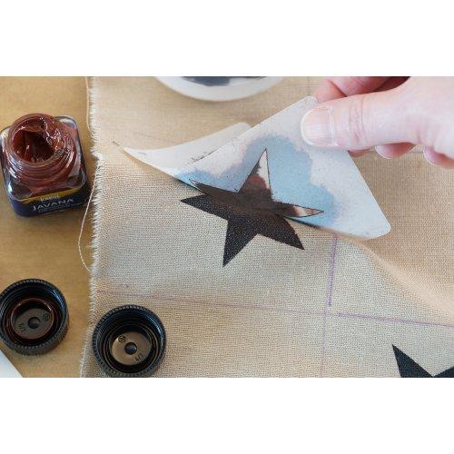 Dekorační tužidlo na textil HOBBY LINE 150 ml - 909_701_DECO Festiger Step1.2_Schablone_abziehen.jpg