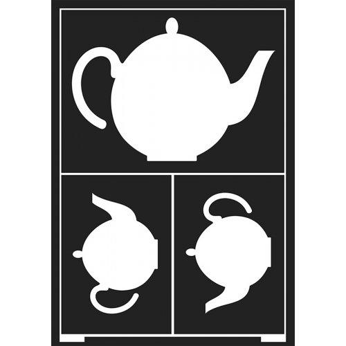 Šablona samolepicí flexibilní, šálek čaje, A5