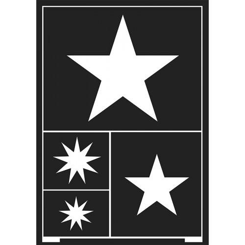 Šablona samolepicí flexibilní, hvězdy, A5