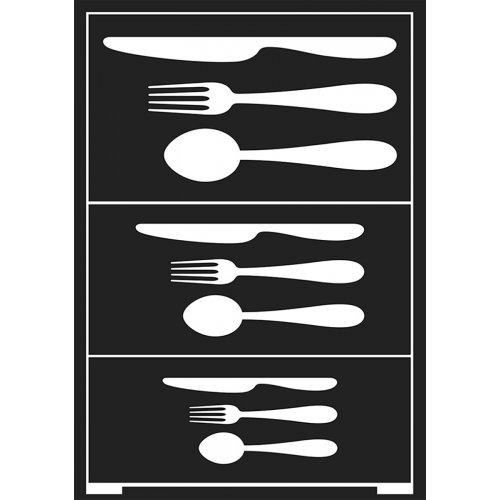 Šablona samolepicí flexibilní, příbory, A5
