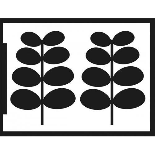 Šablona samolepicí flexibilní, listy, A5 - negativ