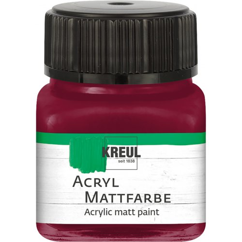 Akrylová barva matná KREUL 20 ml bordó