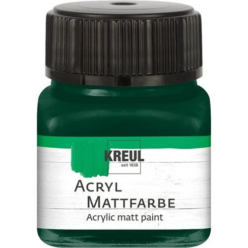 Akrylová barva matná KREUL 20 ml jedlová zelená