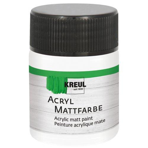 Akrylová barva matná KREUL 50 ml bílá