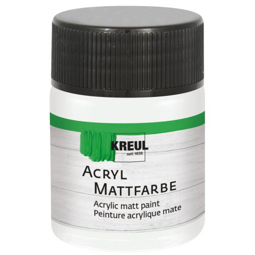 Akrylová barva matná KREUL 50 ml pastelová bílá