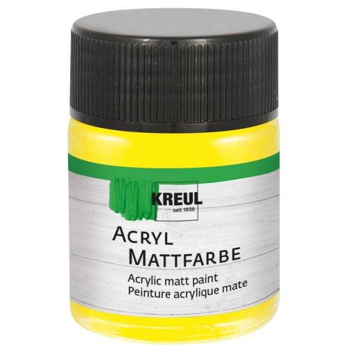 Akrylová barva matná KREUL 50 ml žlutá
