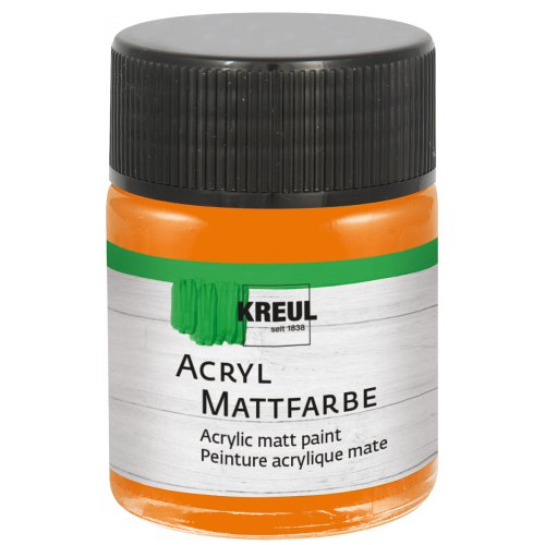Akrylová barva matná KREUL 50 ml oranžová