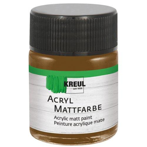 Akrylová barva matná KREUL 50 ml tmavě hnědá