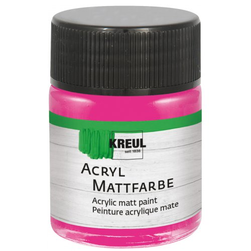 Akrylová barva matná KREUL 50 ml růžová