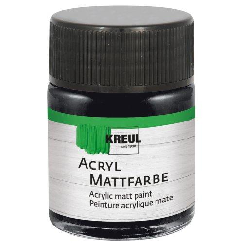 Akrylová barva matná KREUL 50 ml černá