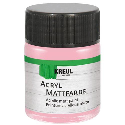 Akrylová barva matná KREUL 50 ml pastelová růžová