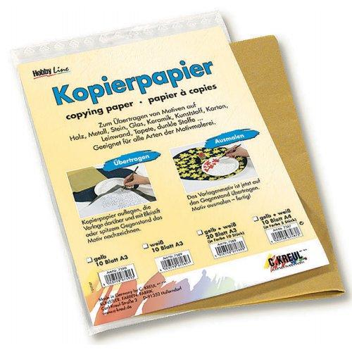 Kopírovací papír pro transfer žlutý 30 x 42 cm 10 listů