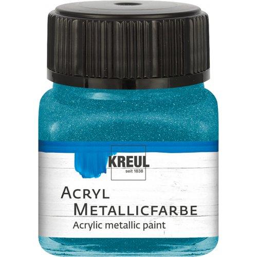 Akrylová barva metalická KREUL 20 ml mentolová
