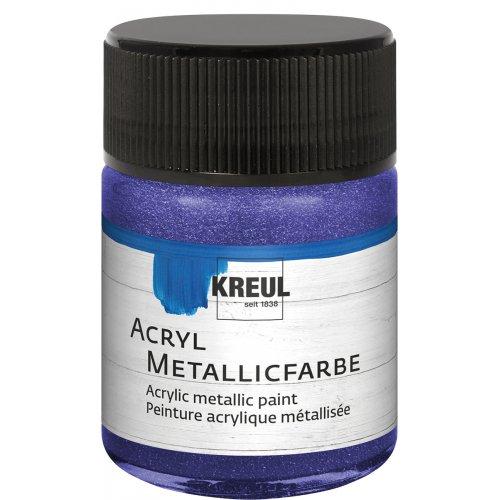 Akrylová barva metalická KREUL 50 ml fialová