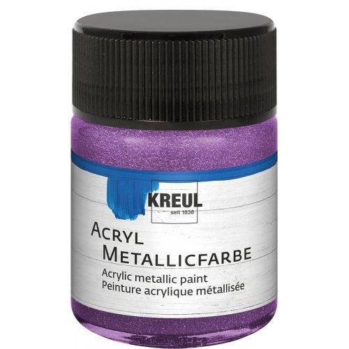 Akrylová barva metalická KREUL 50 ml lila