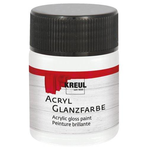 Akrylová barva lesklá KREUL 50 ml bílá