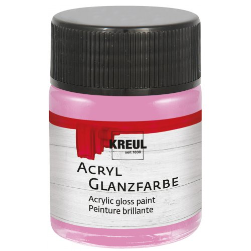 Akrylová barva lesklá KREUL 50 ml růžová