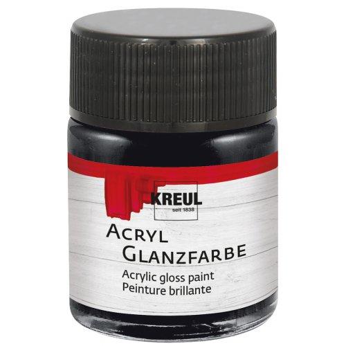 Akrylová barva lesklá KREUL 50 ml černá