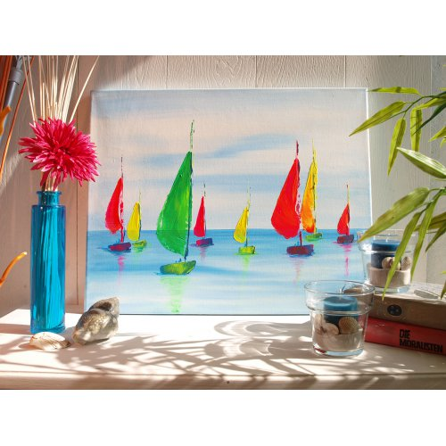 Sada Akrylová barva umělecká SOLO GOYA 20 ml v tubě 8 barev - 504050_841_283_WS 1_Acrylmalerei Segelregatta_Variante 1_SOLO_GOYA_ACRYLIC_.jpg