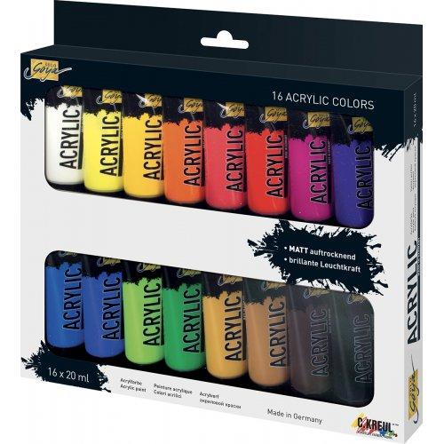 Sada Akrylová barva umělecká SOLO GOYA 20 ml v tubě 16 barev