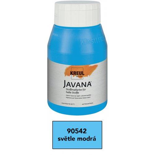Barva na světlý textil JAVANA 500 ml světle modrá