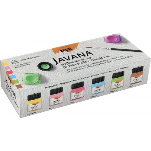Sada barev na světlý textil JAVANA 6 x 20 ml - Trendy