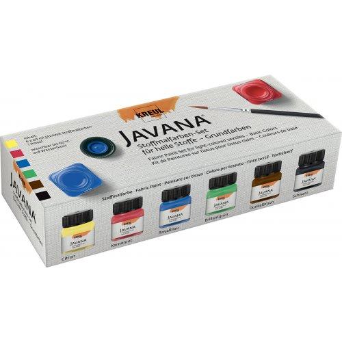 Sada barev na světlý textil JAVANA 6 x 20 ml - Základní