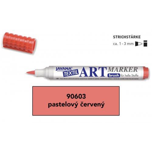 Art Marker fix na světlý textil Javana pastelová červená