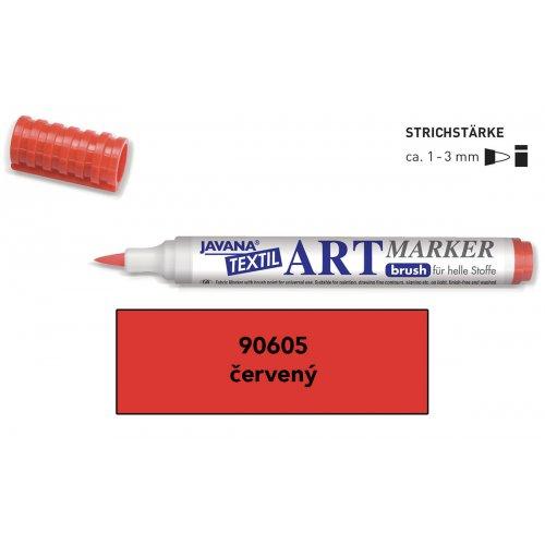 Art Marker fix na světlý textil Javana červený